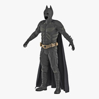 Batman Costume 3D Model