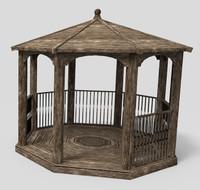 3D garden gazebo model
