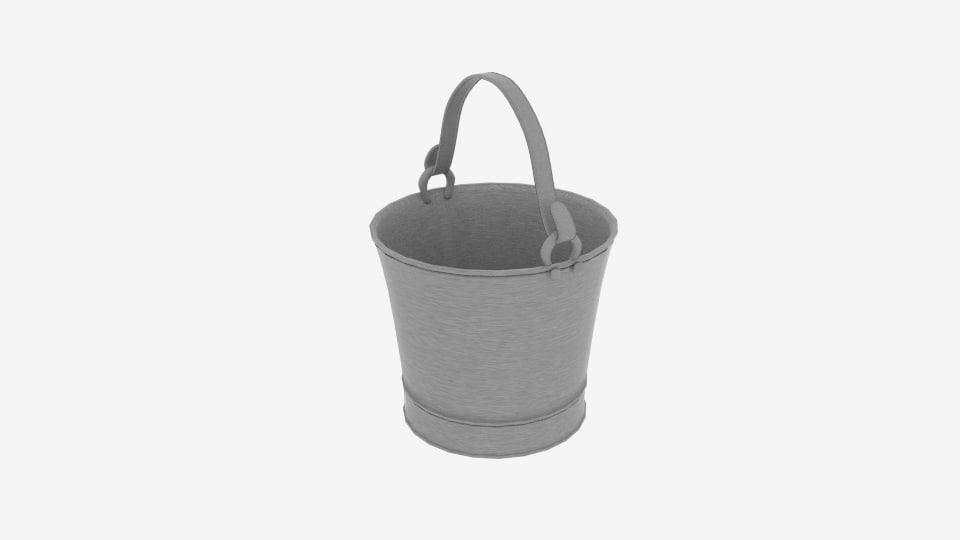 3D model hand water pump bucket