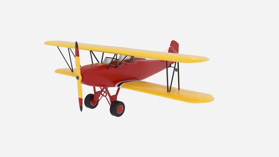 consolidated 14 fleet biplane 3D model