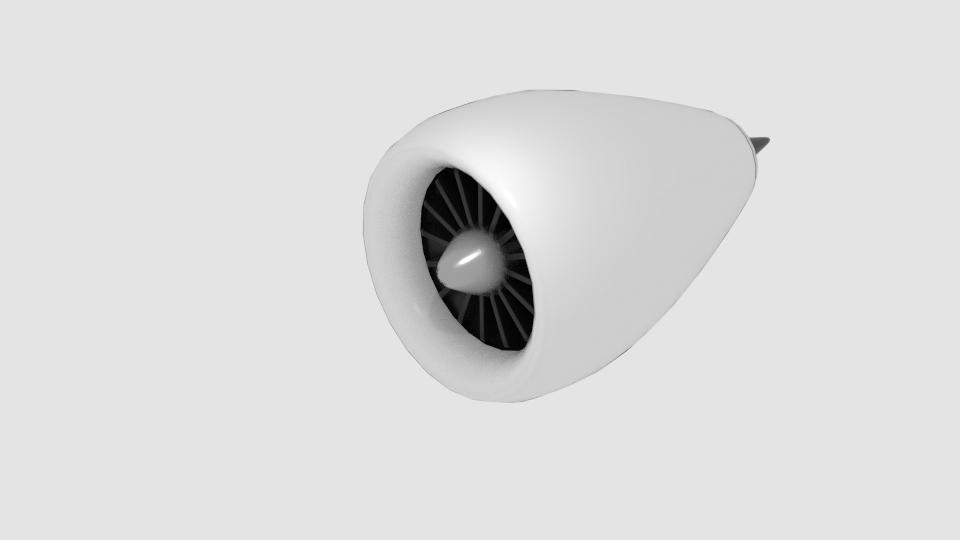 cylinder jet eninge 3D