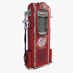 3D petrol pump vintage model