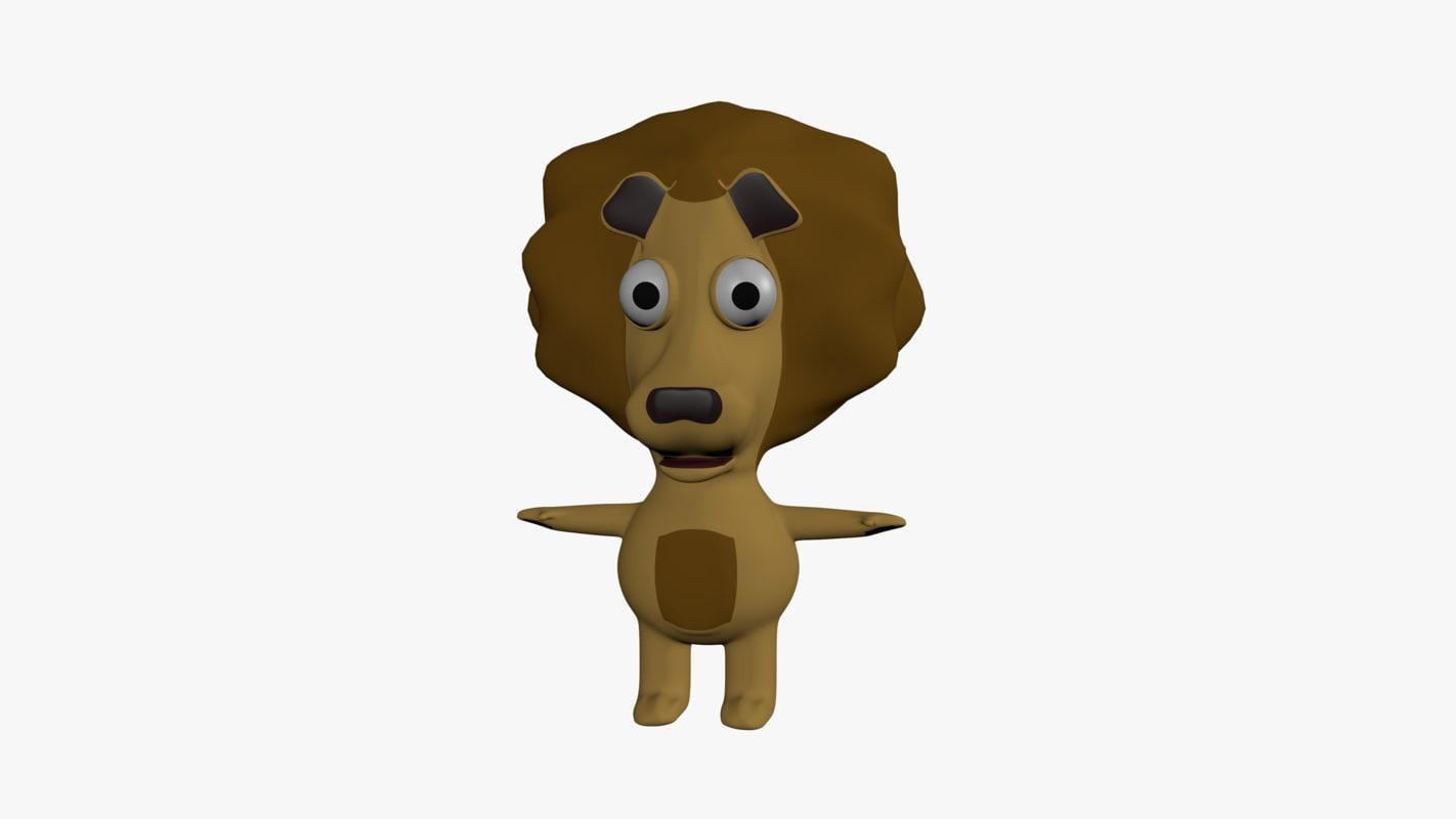 lion cartoon model