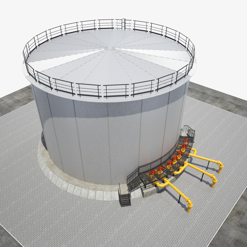 oil reservoir 3000 3D model