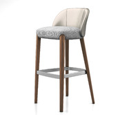 3D model bellevue stool wood