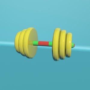 toy dumbbell 3D model