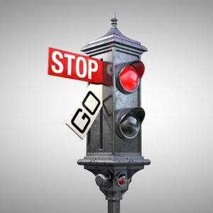 old traffic light 3D model