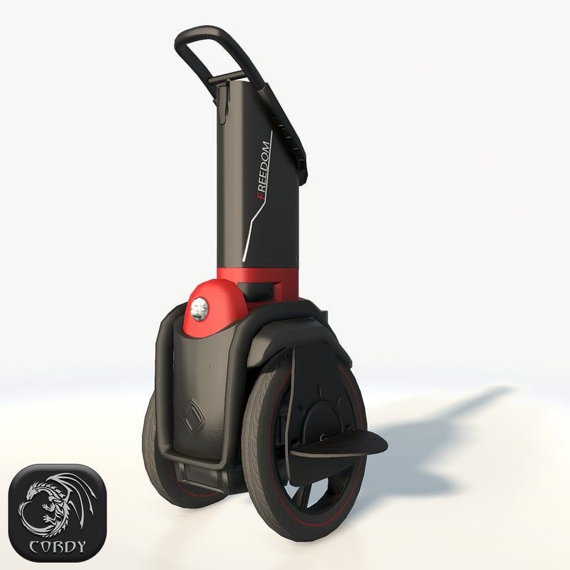 self-balancing scooter freedom red 3D model