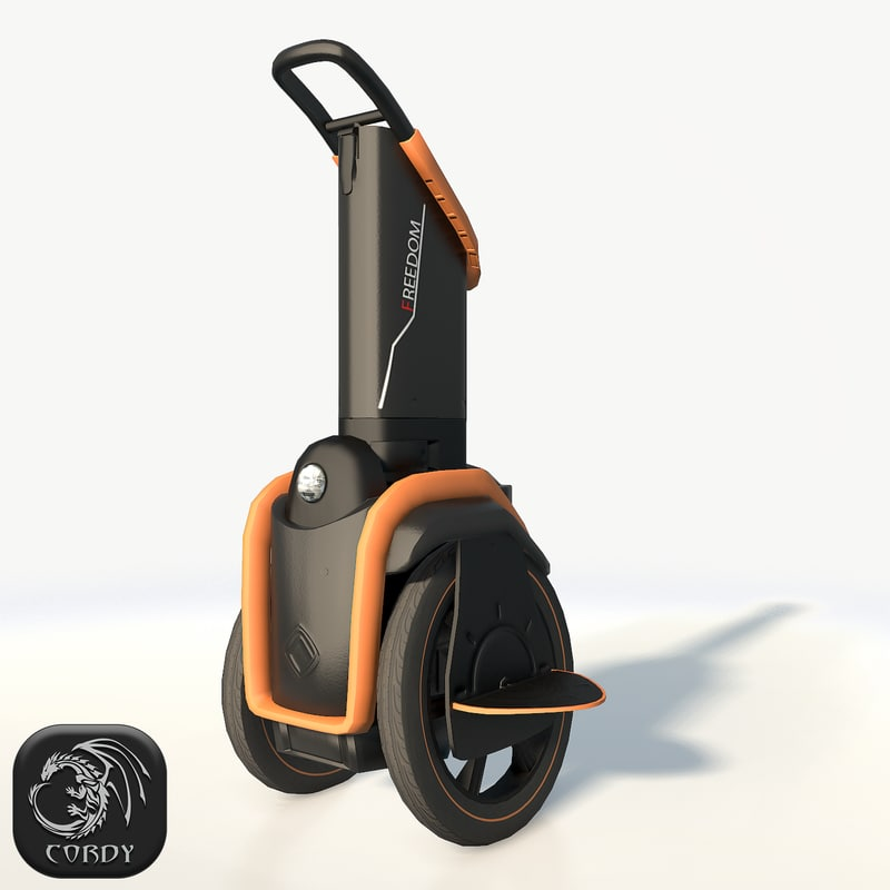 3D self-balancing scooter freedom orange