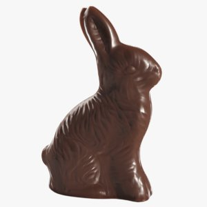 chocolate easter bunny 3D model