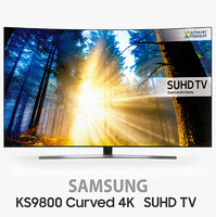 Samsung KS9800 Curved 4K SUHD TV 65 inch UN65KS9800 UE65KS9500 and One Remote Control