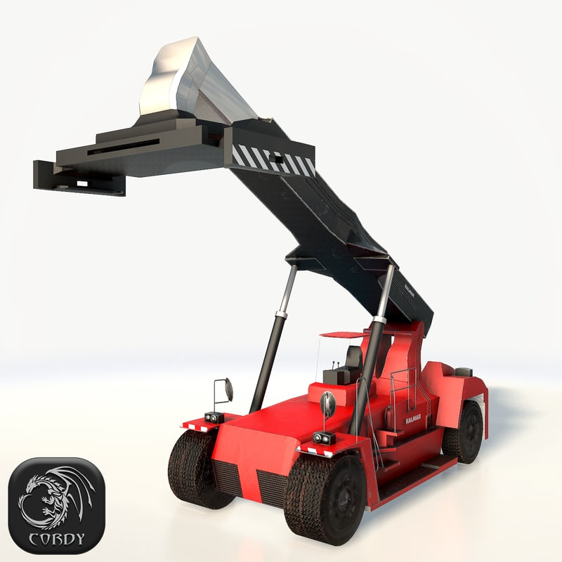 3D reach stacker model
