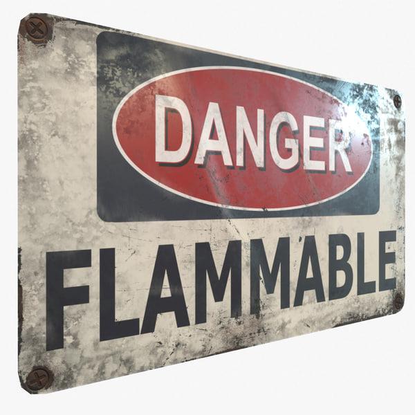 ready danger flammable pbr 3D model