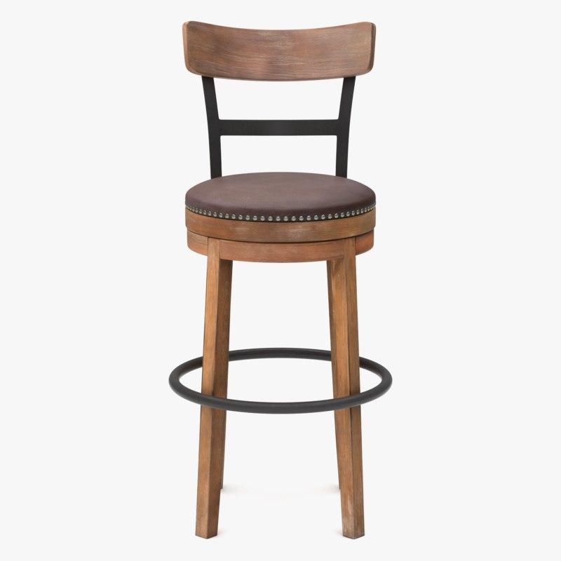 3d model wooden bar chair wood 1142416 turbosquid