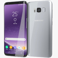 realistic samsung galaxy s8 3D model
