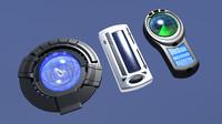 gadgets sci-fi 3D model