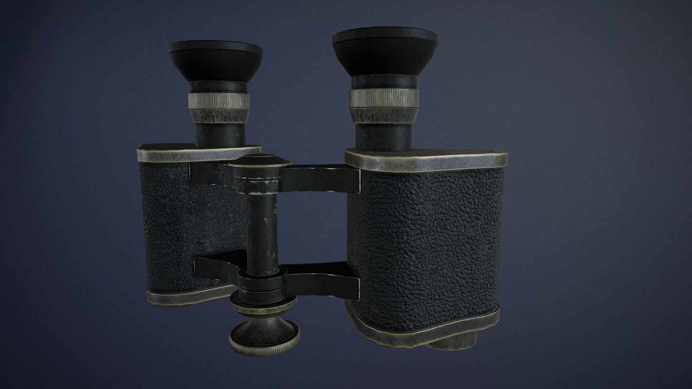 ww1 german goerz binoculars 3D