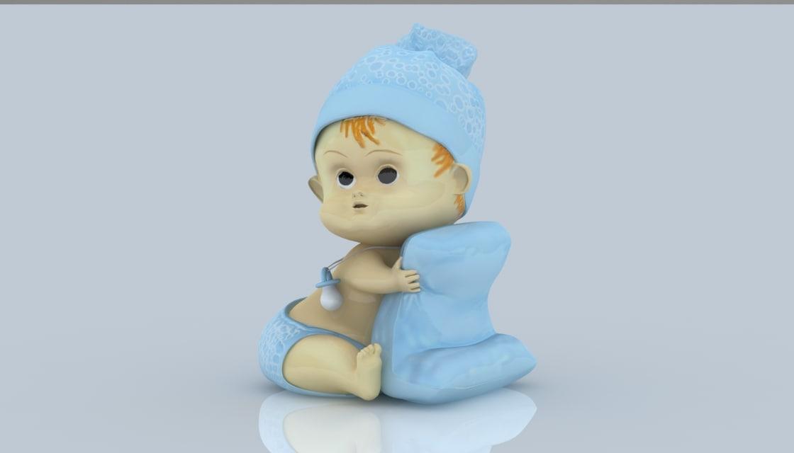 3D baby interior decorations
