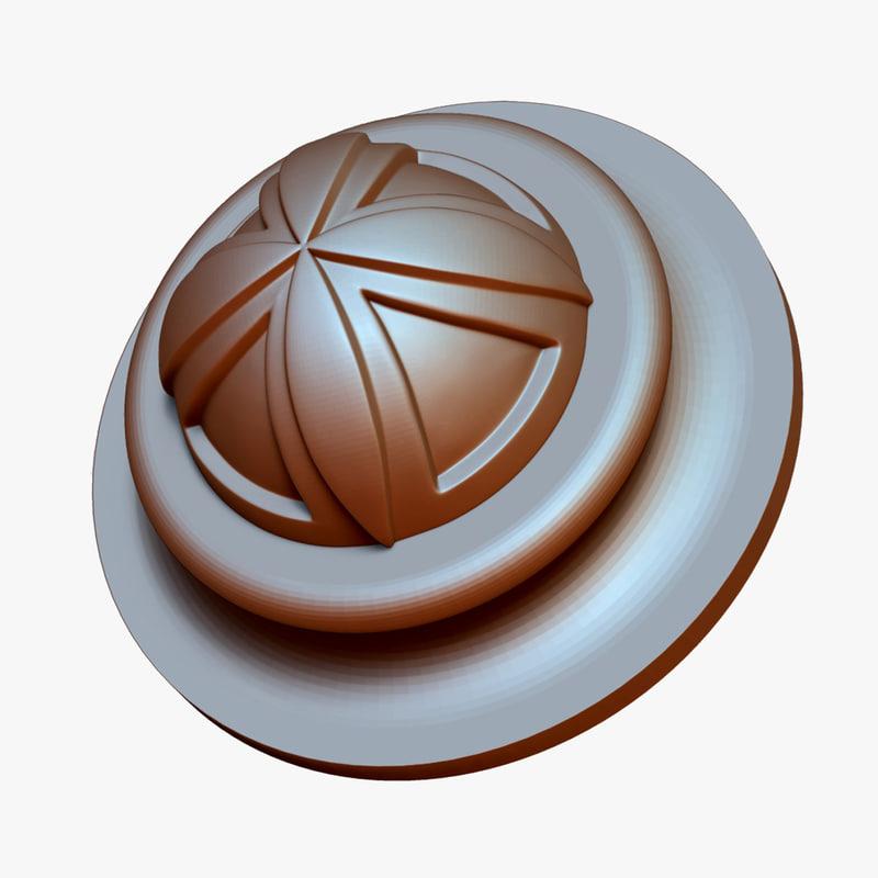 3D ornament ztl model