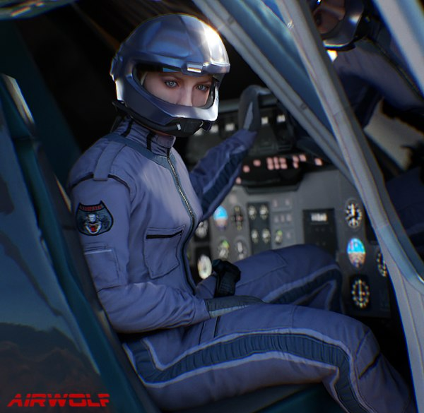 airwolf female pilot 3D