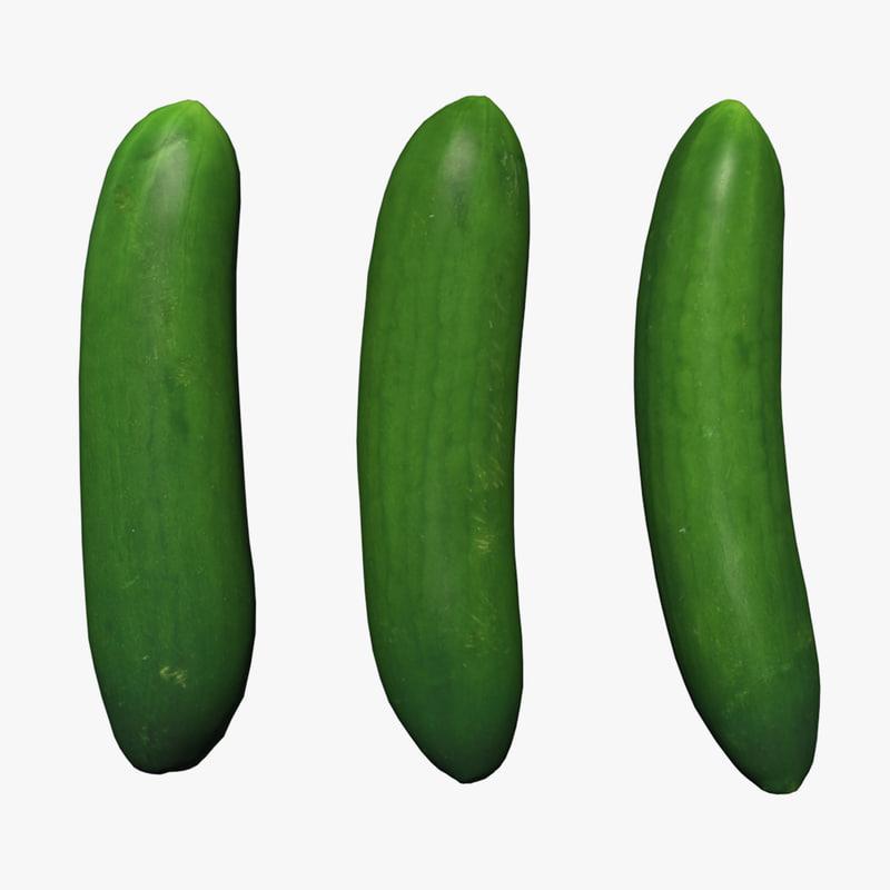 cucumber scan 3D model