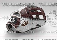 customizable baseball glove 3D model