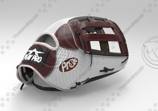 customizable baseball glove 3D model