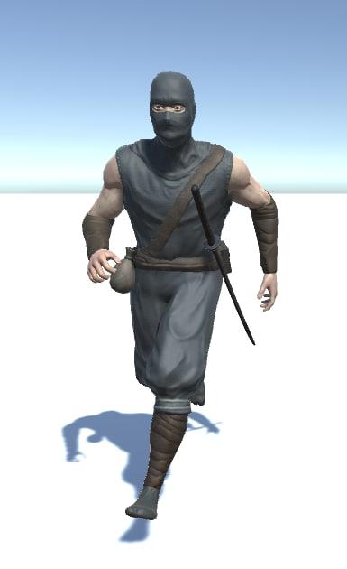 ninja character morph face 3D