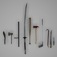 3D model melee weapons