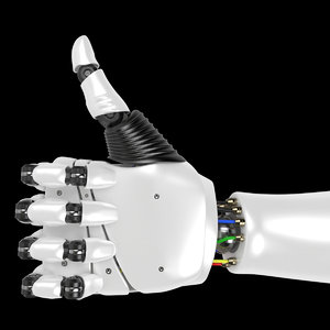robotic hand rigged 3D model