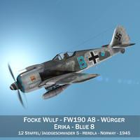 3D model focke wulf - fw190