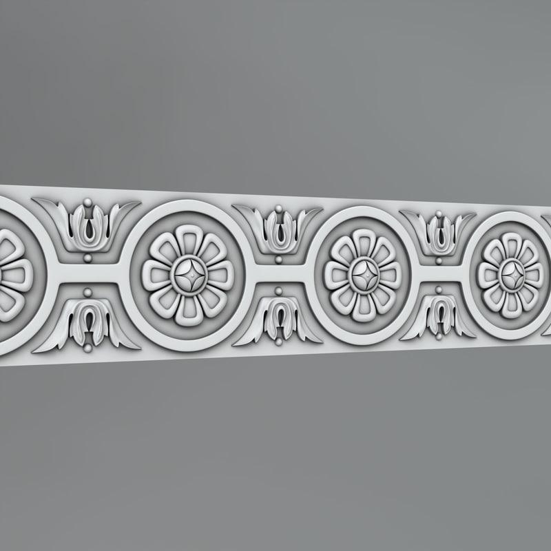3D classical ornamental model