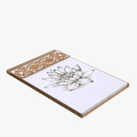 notebook paper metal 3D model