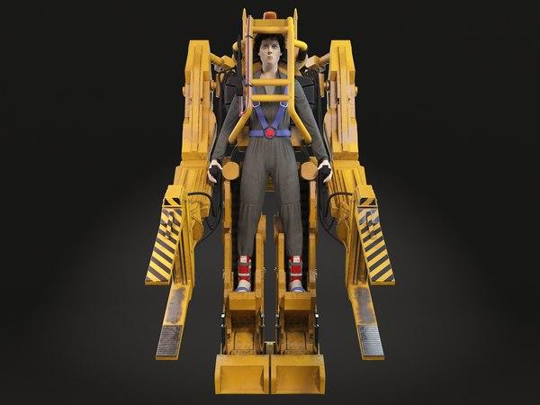 alien nostromo power 3D model