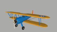 boeing stearman pt-17 3D