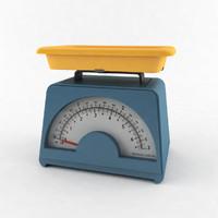 3D scales retro model