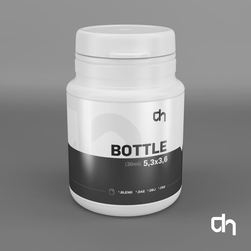 3D bottle 5 3x3 6cm