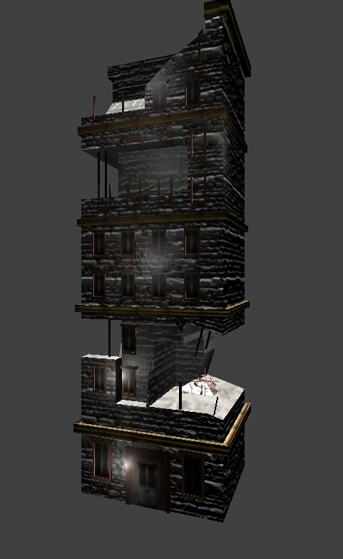 ruined building 3D
