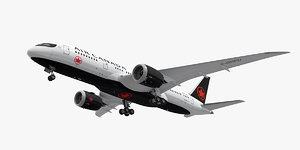 boeing 787-8 air canada 3D model