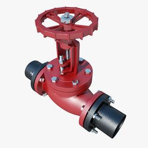 gate valve 3D