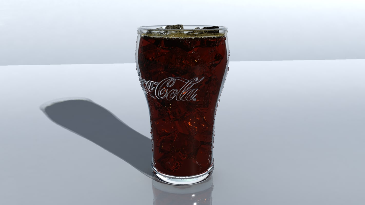 3D glass cup coke