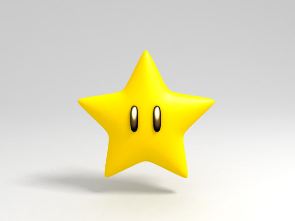 3D star mario model