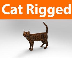 3D model cat rigged