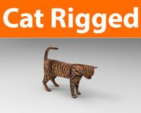 cat rigged 3D model