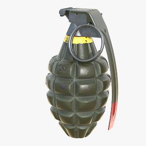 grenade mk 2 3D model