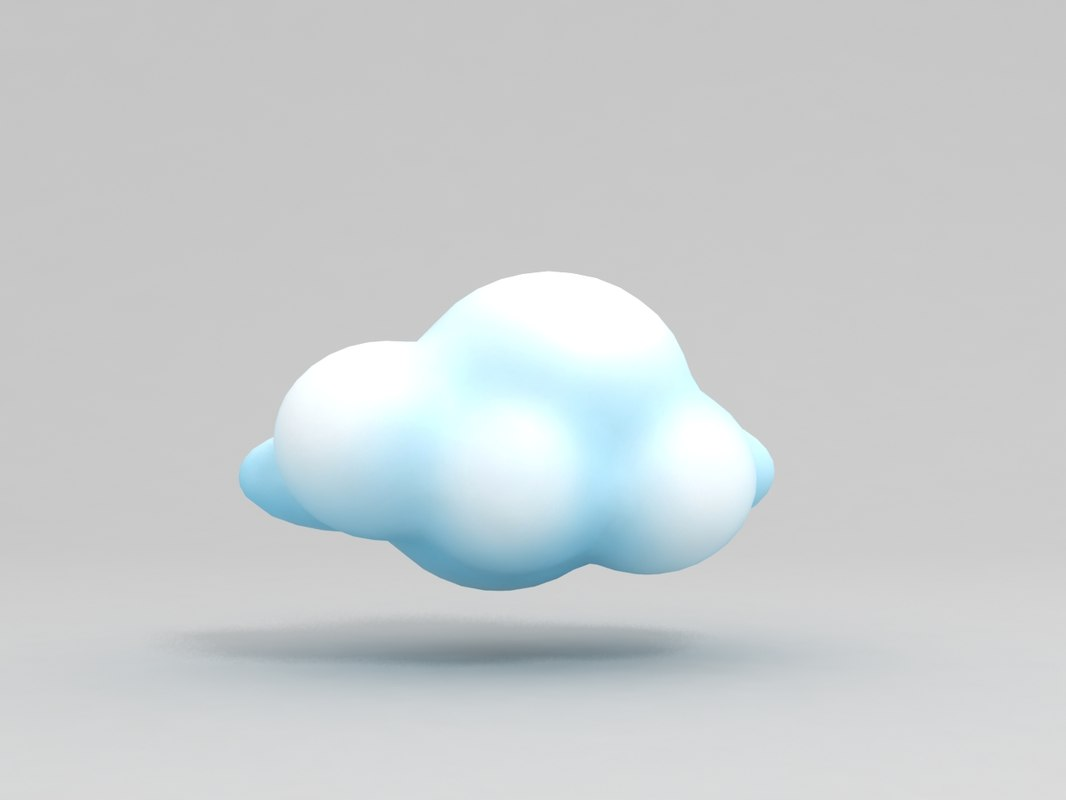 3D cartoon cloud model