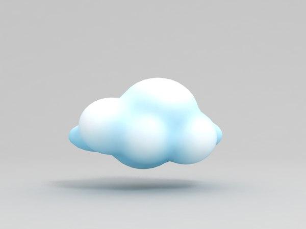 3D cartoon cloud model