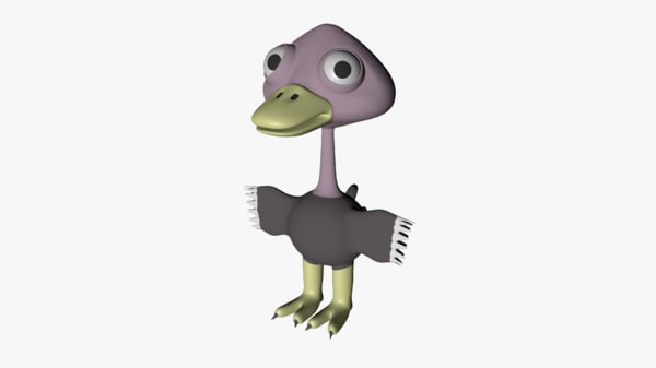 3D cartoon ostrich