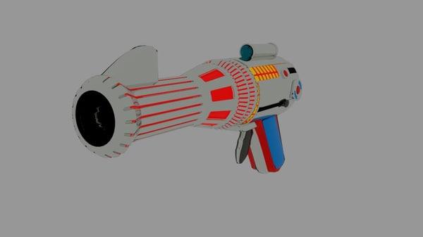condor space gun 3D model