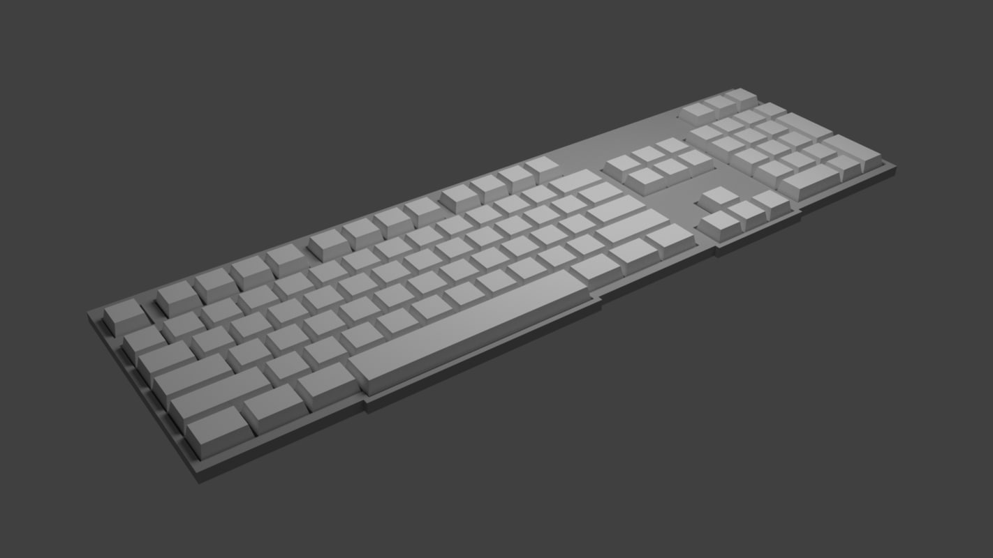 3D simple keyboard